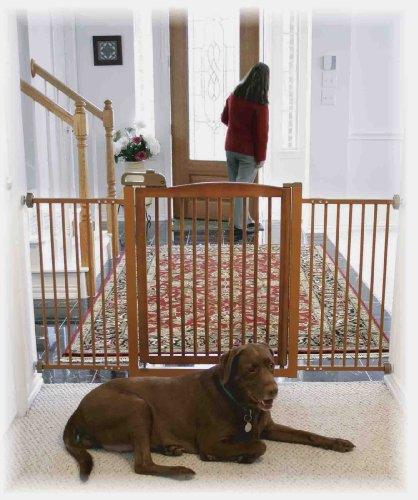 Extra Wide Pressure Mounted Pet Gate Gatesandsteps Com